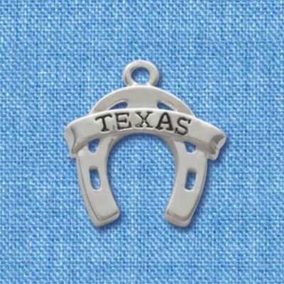 Horseshoe with Texas Banner Charm