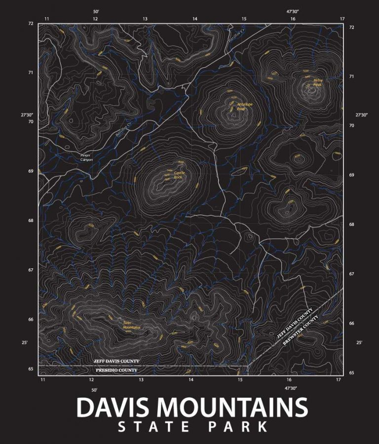 Davis Mountains topo map