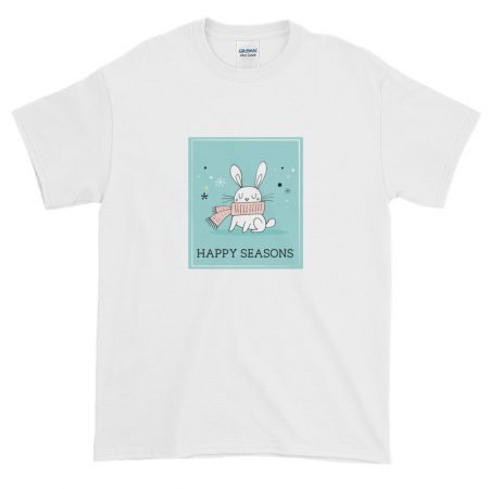 Huggable Holiday Rabbit T-shirt - White