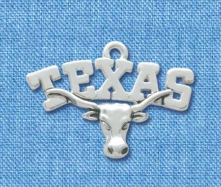 Longhorn with Texas Banner Charm