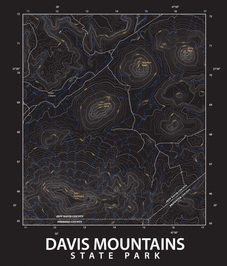 Davis Mountains topo map