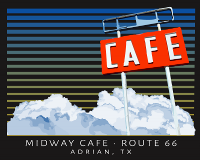 Midway Cafe on Route 66, Adrian, TX